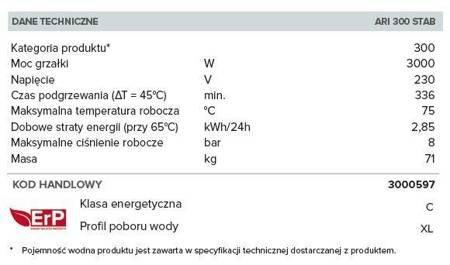 ARI 300 STAB 560 THER MO EU Elektryczny pojemnościowy podgrzewacz wody
