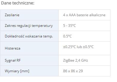 Bezprzewodowy, natynkowy, cyfrowy regulator temperatury sieci ZigBee, 4w1, 4xAAA, czarny