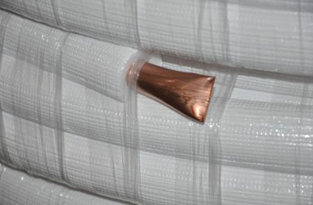"""COOLEO - Rura  miedziana  z izolacją 12,70x0,80mm 1/2"""" 10m"""