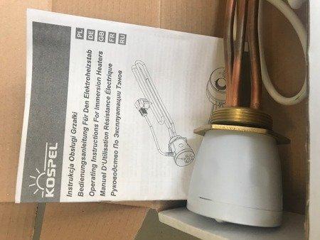 """Grzałka elektryczna z termostatem GRW-2,0kW/230V, 6/4"""""""