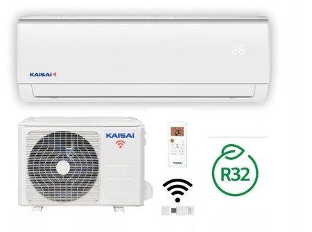 KAISAI - Klimatyzator ścienny inverter split z modułem WiFi w komplecie 3,5 kW