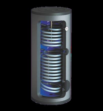 Wymiennik c.w.u. SBZ-200.TERMO-SOLAR, 200 litrów, z dwoma wężownicami i podłączeniem do zewnętrznego wymiennika ciepła